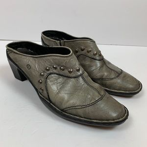 Josef Seibel Mules with silver Rivets
